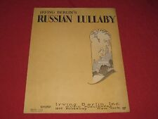 1927 Russian Lullaby by Irving Berlin Sheet Music Art Deco Cover
