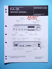 Manuel de reparation pour Kenwood ka-36, original