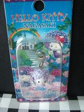 2004 Sanrio Japan Auth angel Hello Kitty purple flower Doll charm keychain new