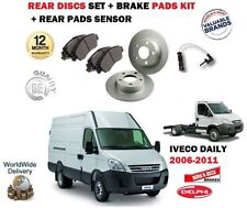 FOR IVECO DAILY 60C15V 60C17V 65C17 60C14 2006-> REAR BRAKE DISC SET + PADS KIT
