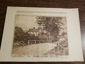 The Birthplace of Whittier,Havehill,Mass.(copper Plate) 1898