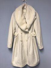 Women's Coat Jacket adl Faux Fur Ivory Sz S Beautiful Warm Stylish Winter