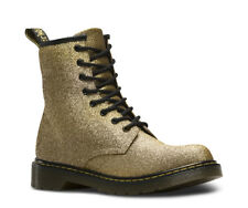 Original Dr Martens Delaney Gold Glitter Gioventù BOOT TG UK 5.5