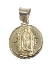 Virgen de Guadalupe 14K Gold Medalla Pendant Yellow Solid Gold Virgencita Medal