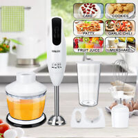 5IN1 Electric Hand Blender Stick Juicer Mixer Meat Grinder Food Chopper 600W