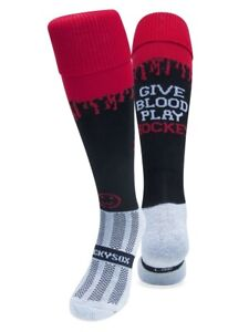 WackySox Hockey Socks - Give Blood Play Hockey