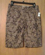 "Girls ""OLD NAVY"" lightweight 100% cotton brown floral pattern shorts sz 16 NWT"