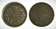 Canada 1908 - 1998 Proof Five Cent Piece With Antique Finish!!