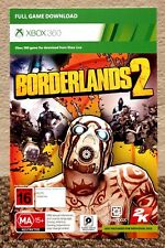 BORDERLANDS 2 (PAL) • FULL GAME DOWNLOAD (DLC) • XBOX 360 (PAL) • NEW + UNUSED