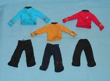 vintage Mego STAR TREK CLOTHES LOT #6 Mr. Spock Captain Kirk Scotty shirts pants