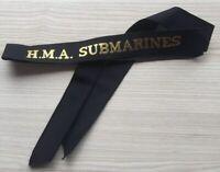 H.M.A. SUBMARINES GENUINE RAN  TALLY BAND  ~ 220+ SHIPS NAMES AVAILABLE