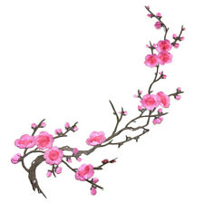 Lovely Embroidered Plum Blossom Flower Patch Iron/Sew on Applique Motif PTCAB WD