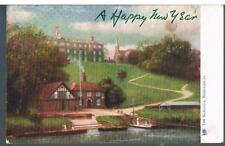 TUCK POSTCARD SHREWSBURY SERIES 1441 THE SCHOOLS 1905 - HAPPY NEW YEAR VARIANT