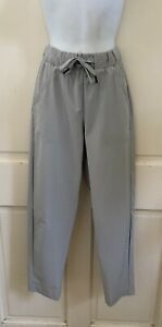 UNDER ARMOUR NEW! Women Light Gray LOOSE Stretch Drawstring Crop Cargo Pants XS