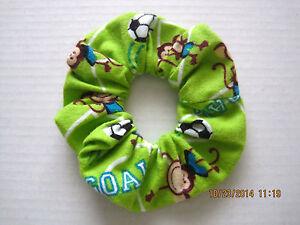 Soccer Hair Scrunchies Handmade by Izzy !