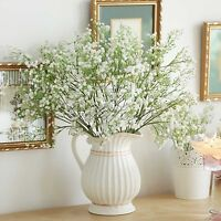12×Artificial Baby's Breath Gypsophila Silk Flowers Fake Bouquet Home Vase Decor