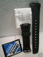Casio Watch Band EFA-109 Original Black Rubber Case Fitted Strap. Watchband