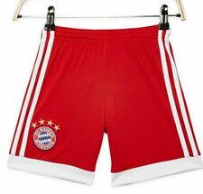 Adidas FC Bayern Munich Red Home Soccer Shorts Sz XL Youth Munchen AZ7948 NWT
