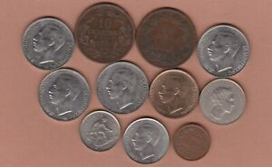 11 COINS FROM LUXEMBOURG 1865 TO 1981 IN FINE OR BETTER CONDITION.