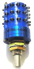 """SWITCH ROTARY M3786/4-0055 Mil-Spec - 1/4"""" 3-Pole 12-Position - *UNUSED* Qty:1"""
