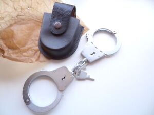 Handcuffs BRS-2, new, made in Russia, + 2 keys, + new leather case, #1