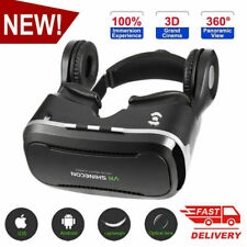 VR Virtual Reality 3D Glasses with Headset SHINECON For Samsung iPhone %