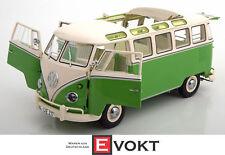 VW T1 Samba bus 1959 - 1963 green / white, model car 1:18 / Schuco