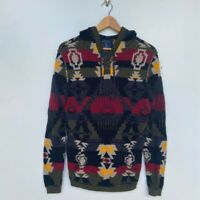 American Eagle women's  southwestern  aztec button pullover hoodie