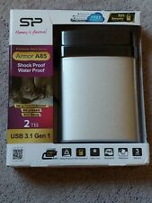 Silicon Power 2TB Portable External Hard Drive Armor A85, Shock and Water proof
