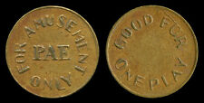 Philippine American Embroidery PAE Token For Amusement Only, Good for One Play