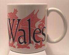Starbucks Coffee Company Cymru Wales City Mug Collector Series 2002 Rare England