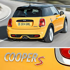 Red Silver S Trunk Boots Alloy Sticker Badge Emblem For MINI Cooper (US STOCK)