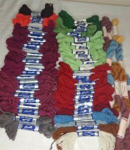 Lot of 71 Vtg. Bucilla & Bernat  Embroidery Wool Needlepoint Crewel Skeins (#53)