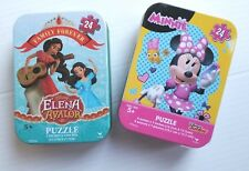 Disney's Minnie and Disney's Elena Avalor 50 Piece Puzzle In Metal Tins