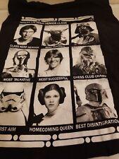 "Men's XL Black Star Wars ""Galactic High School Class of 1977"" T-Shirt"