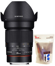 Samyang 35mm F1.4 AS IF UMC f/1.4 Wide Angle Lens for Canon AE Version + Gift