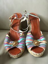 Marc Jacobs Women's colourful Wedge Shoes Size 40 Sandal