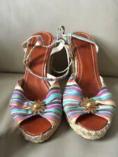 Marc Jacobs Femme Coloré wedge chaussures taille 40 Sandale