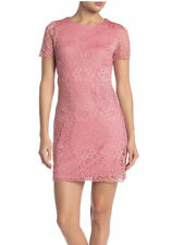 LAUNDRY by Shelli Segal Floral Lace Cap Sleeve Dress, Size 2 Vintage Rose
