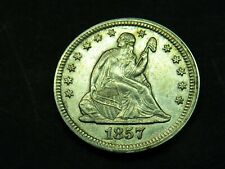 1857 SEATED LIBERTY Quarter 25C Very Nice Condition You Grade It #SL3