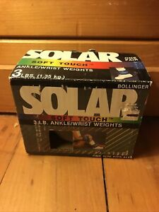 Vintage Bollinger Solar Soft Touch 3 LB. Ankle Wrist Weights AH-0013 - Exercise