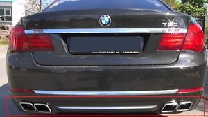NEW Genuine BMW F01 F02 760 EXHAUST DOUBLE TIP PIPES + Diffuser