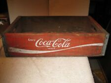 Vintage Coca-Cola red wooden soda case or carrier