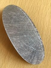 Bonito Plata Fibra Estampado Ovalado Pasador Clip Pelo