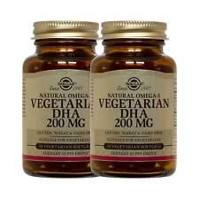 2x Solgar Omega-3 Vegetarian DHA Supplement 200 mg 50 Count FREE US SHIPPING