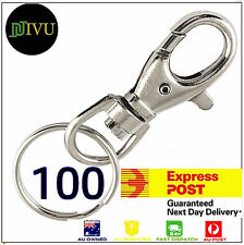 Swivel Lobster Clasps Key chains - 100 Sets & FREE Express Delivery