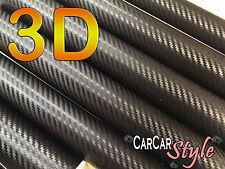 3d Aire Negro Libre De Fibra De Carbono Vinilo 0,75 m (29,5 pulgadas) X 0,3 m (11,8 En) Abrigo coche decal