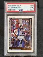 1992/93 TOPPS GOLD SHAQUILLE O'NEAL SHAQ ROOKIE #362 / PSA MINT 9! Centered