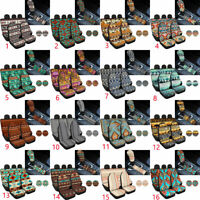 Aztec Tribal Car Seat Cover Auto Accessories with Small Car Coaster 8pc Full Set