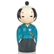 Samurai Japanese Warrior Kokeshi Doll